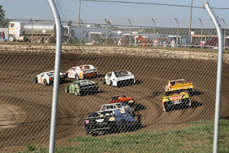 Photo: They whip around at over 140 miles per hour. They do several laps, then the next race starts. More variety than taking Grant to a Nascar race or Indy 500.