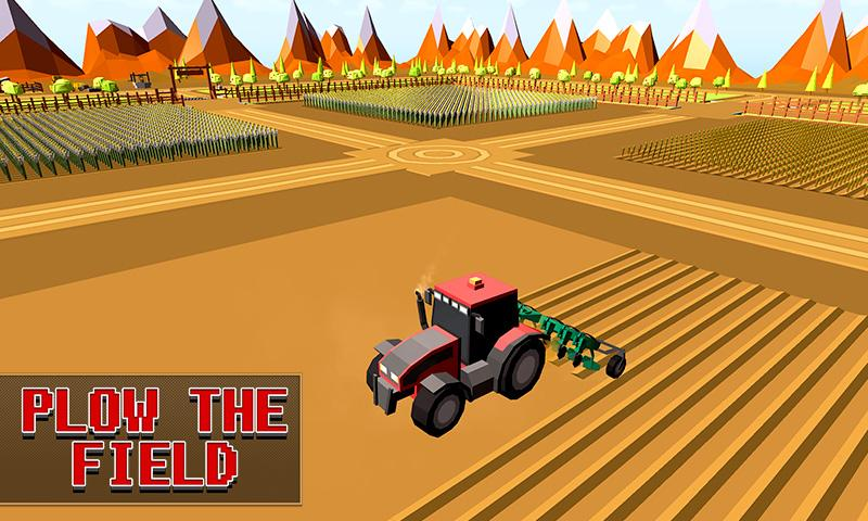 Screenshots of Blocky Plow Farming Harvester for iPhone