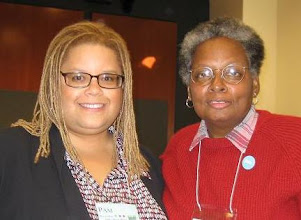 Photo: With the Nobel Peace-prize nominee Mandy Carter, who is also a Durham resident.