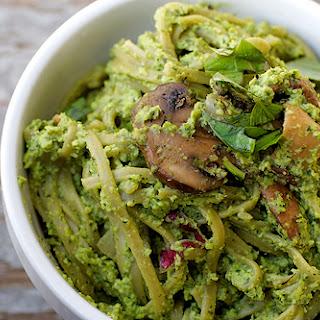 Spinach Linguine with Edamame Pesto Recipe