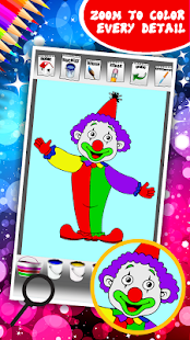 Clown Coloring Book - náhled