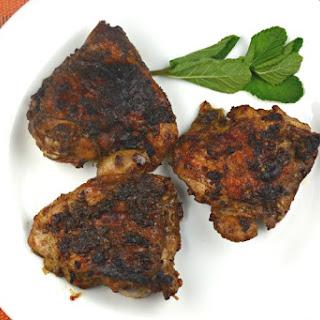 Balsamic Glazed Garlic Chicken Thighs.
