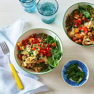 Lentil, Sweet Potato & Cauliflower Bowl with Tahini Dressing Recipe