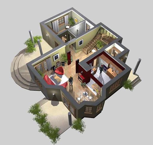 APS 015 - Rzut parteru 3D