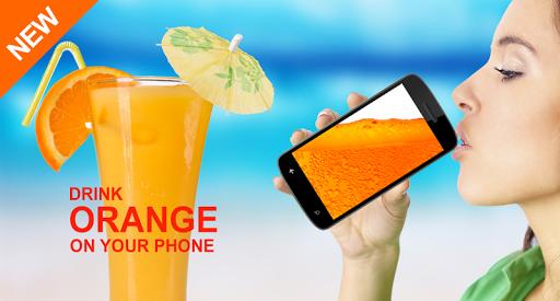 電話でオレンジを飲みます