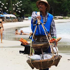 Koh Samet Thailand by Scott Hislop - Novices Only Portraits & People ( koh samet, vendor, thailand, beach, island )