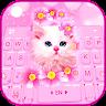 com.ikeyboard.theme.pink.flowers.kitten