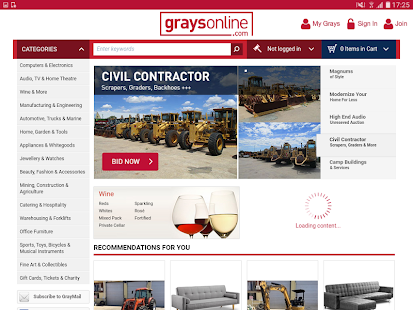 GraysOnline- screenshot thumbnail