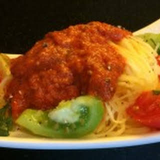 Spaghetti Squash with Harissa Vinaigrette.