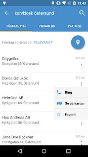 Hitta.se- screenshot thumbnail