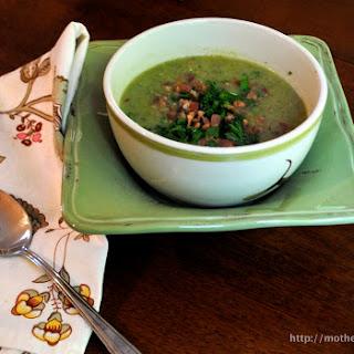 Broccoli and Potato Soup with Bacon