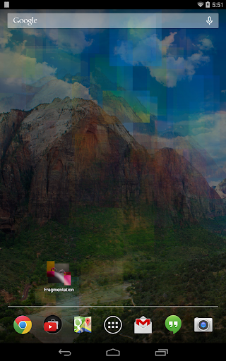 Fragmentation Live Wallpaper screenshot 3