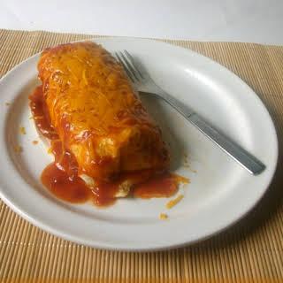 Smothered Beef Burritos.