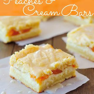 Peaches and Cream Bars.