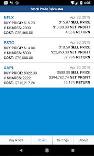 Stock profit calculator   salecalc. Com.