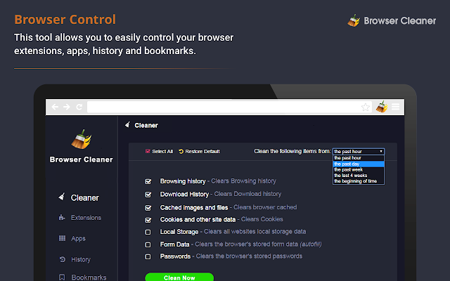 browser cleanup tool