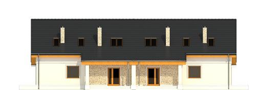 Alka z garażem 1-st. bliźniak A-BL2 - Elewacja tylna