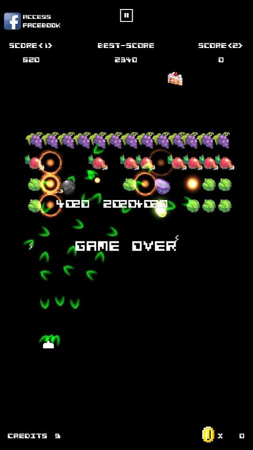 Vegan Invaders- screenshot