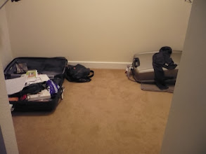 Photo: Our luggages and a lot of free space in the closet \o/