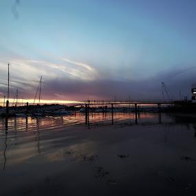 River mouth marina by Simon Gilgallon - Landscapes Sunsets & Sunrises ( sinset.river. bridge.jetty.sundown. )