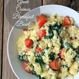 Greek Quinoa Breakfast Bowl.