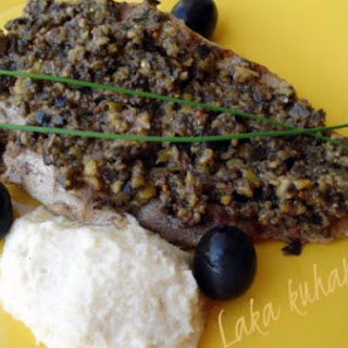 Pan-grilled Steak With Olive Sauce