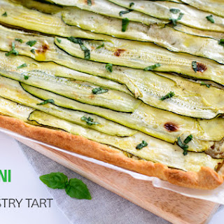 Zucchini And Feta Puff Pastry Tart.