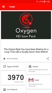 ONE PLUS OXYGEN ICON PACK HD Screenshot