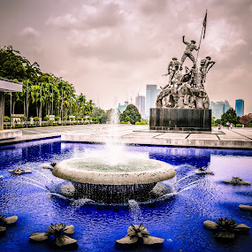 """""""Until justice rolls down like water and righteousness like a mighty stream.""""  ― Martin Luther King Jr. by Manoj Swaminathan - Buildings & Architecture Statues & Monuments ( statue, pool, fountain )"""