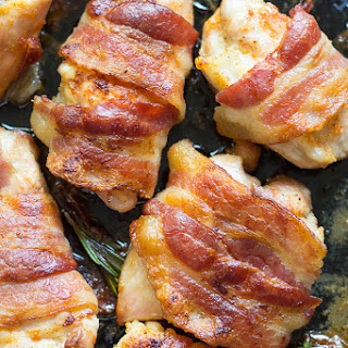 One-Pan Crispy Paleo Bacon Wrapped Chicken {Whole30}.