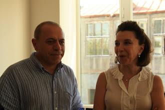 Photo: Khachig (one of the psychologists at the center) and Diana Katsouris (SGMF's founder)
