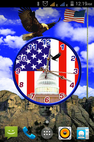USA Independence Day Clock