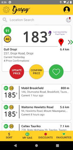 gaspy - nz fuel prices screenshot 1