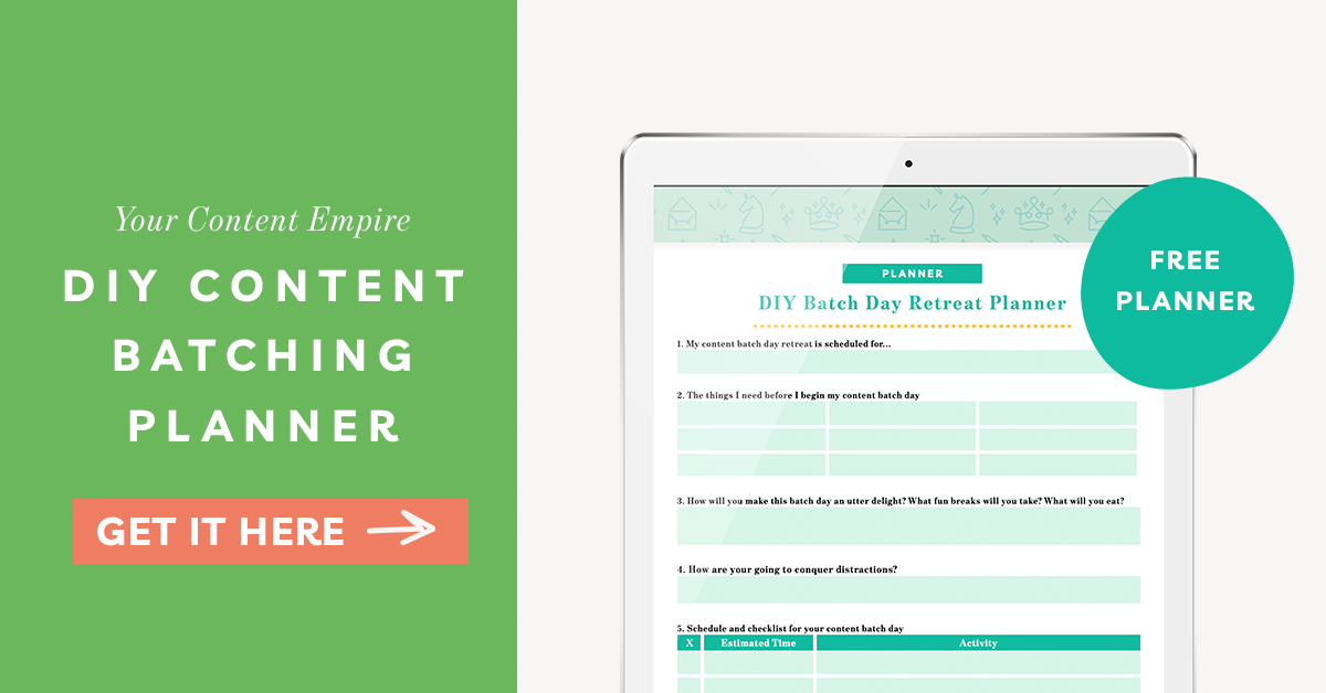 Freebie | DIY Content Batching Retreat Planner