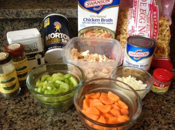 Bring large pot of water to boil. Add egg noodles and boil until tender,...