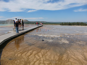 Photo: The Grand Prismatic Spring eats hats