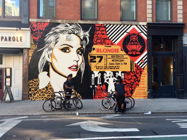 Shepard Fairey's Blondie CBGB mural.