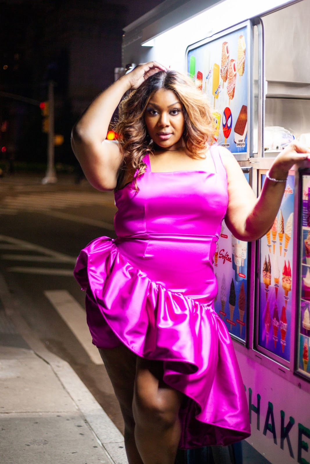 This image has an empty alt attribute; its file name is Courtney-Nolle-Plus-Size-Dress-Roxanne-Magenta-Pink-Purple-Party-Dress--scaled.jpeg