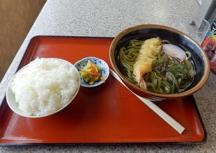Photo: 社PAにて、三草茶うどんセット