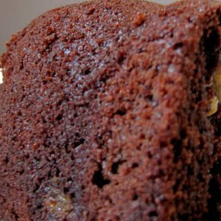 Chocolate Bundt Cake with Brown Sugar-Walnut Layer.
