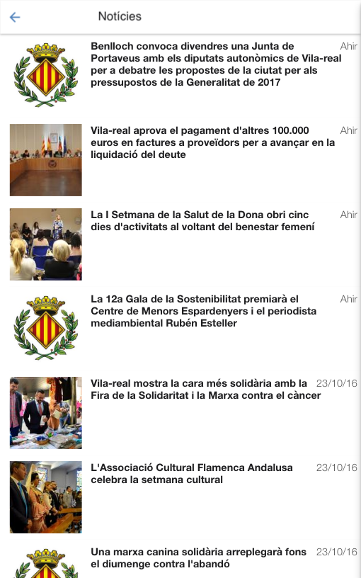 Vila-real: captura de pantalla