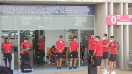 Los jugadores antes de viajar a Marbella.