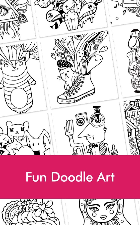 Doodle Coloring Book For Adult Screenshot