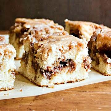 Cinnamon Roll Cake From Scratch (with Video) - Crunchy Creamy Sweet