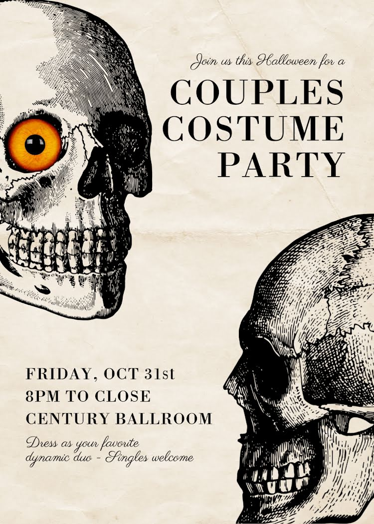 Couples Costume Party - Halloween Template