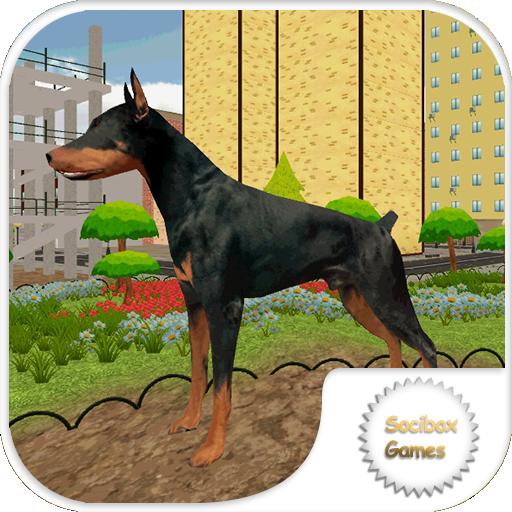 市の犬の生存 動作 LOGO-玩APPs