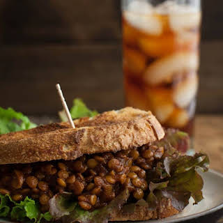Spicy Lentil Vegan Sloppy Joes.