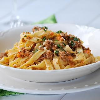 Ragu alla Bolognese with Homemade Tagliatelle