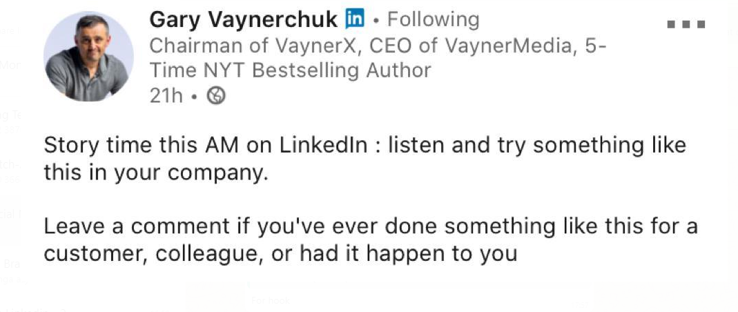 CTA encourages the number of comments, which eventually results to more views on LinkedIn posts