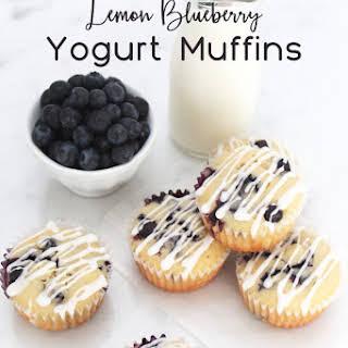 Lemon Blueberry Yogurt Muffins.